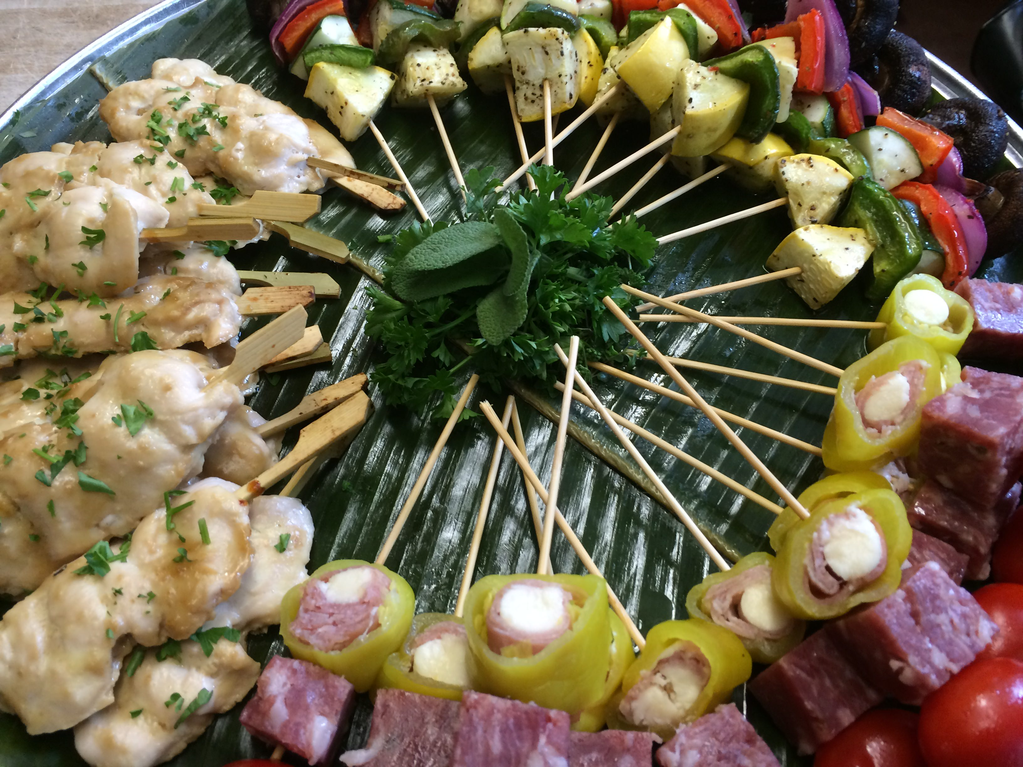 Mixed skewer platter