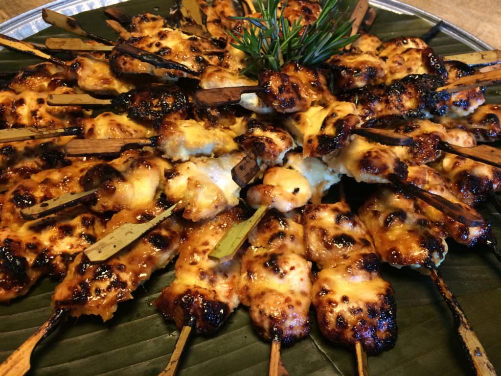 Chicken skewers