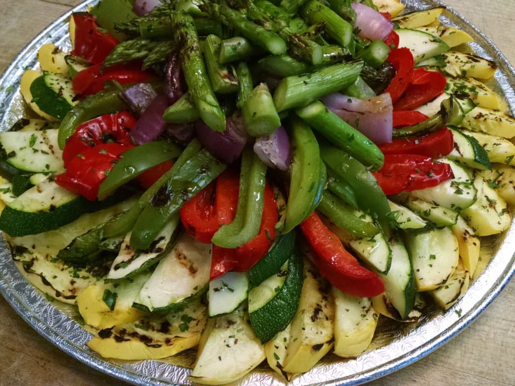 Roasted veggie platter (1)