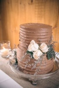 Wedding cake - ribbon effect