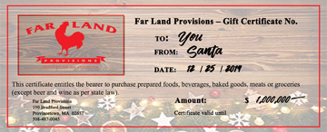 Gift Certificates for the Holidays or Any Occasion