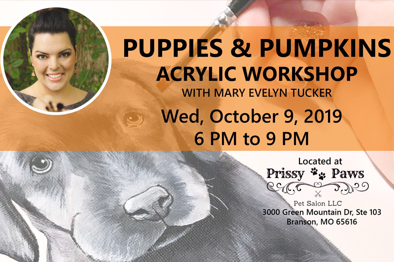 Puppies & Pumpkins Acrylic Workshop with Mary Evelyn Tucker