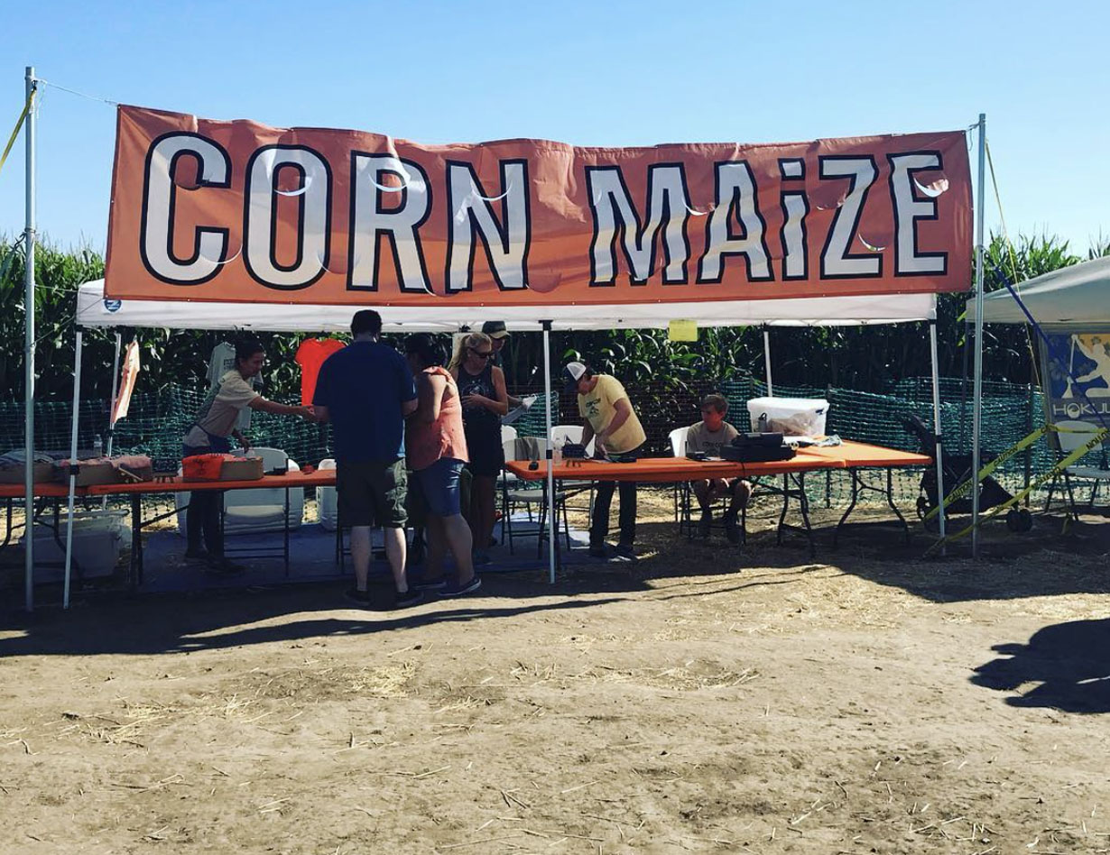 Corn MaiZe Entrance