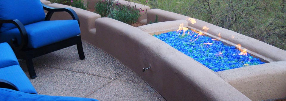 Pavers-Artificial turf- Fire pit