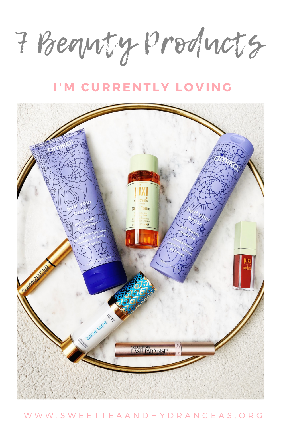 Sweet Tea & Hydrangeas 7 Beauty Products I'm Currently Loving