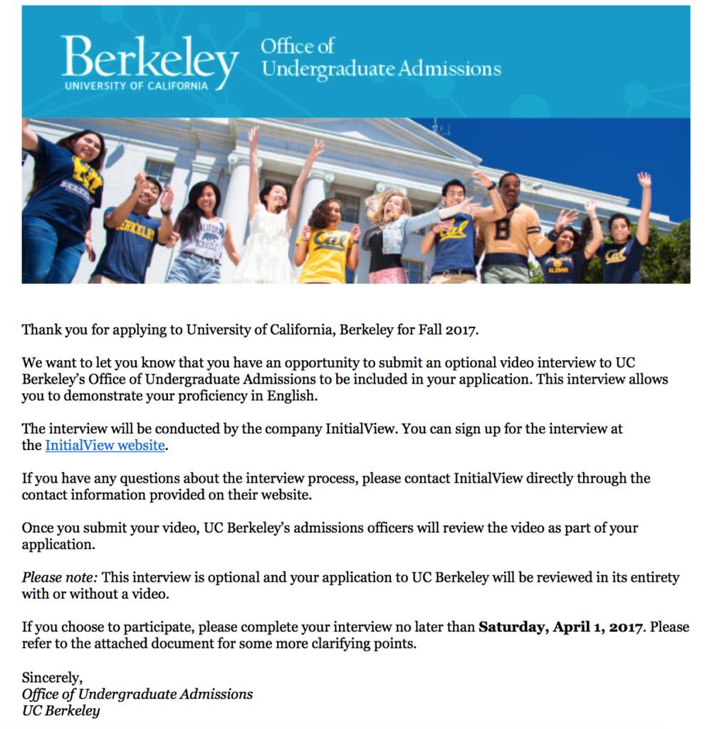 UC Berkeley and InitialView
