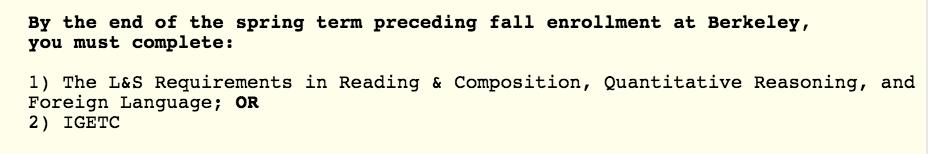 Berkeley language requirement for CS