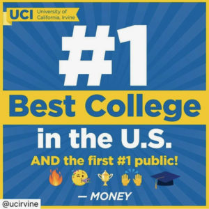 UCI ranks #1