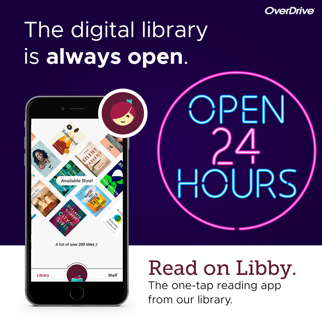 Borrow and read e-books and magazines using OverDrive/Libby.