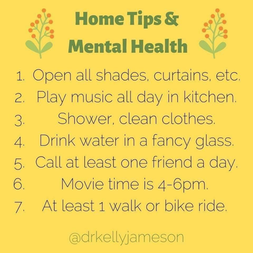 Home Tips for Mental Health