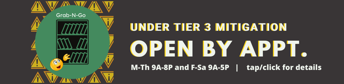Open by appointment under Tier 3 mitigations.