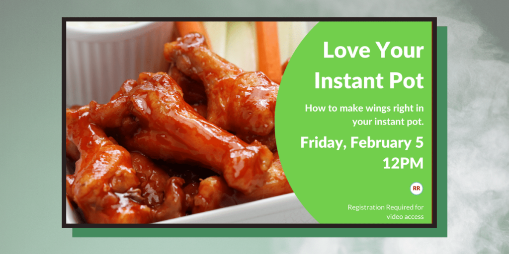 Image of flyer for February Instant Pot program on February 5th at 12pm