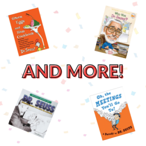 """Text """"And More!"""" with multiple books covers"""