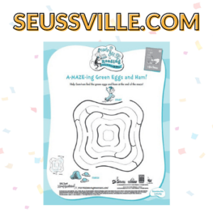 """Text """"Suessville.com"""" with activity page"""