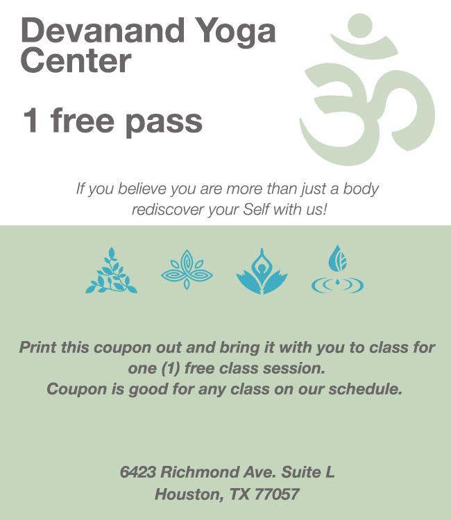 Devanand Yoga Houston Coupon