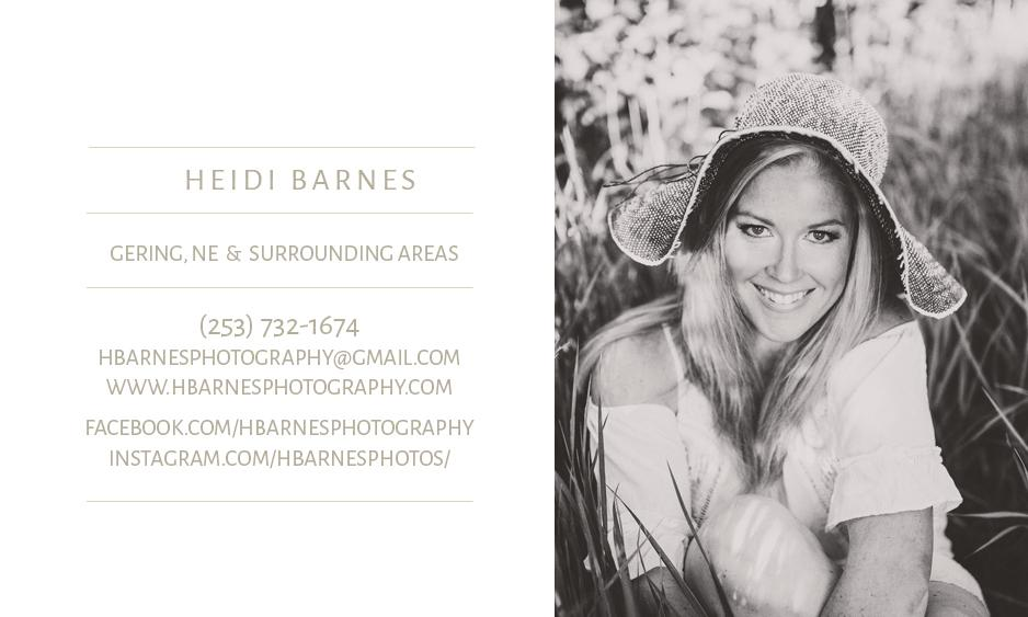 Heidi Barnes Local Vendor, Photography, Scottsbluff, Gering, Nebraska