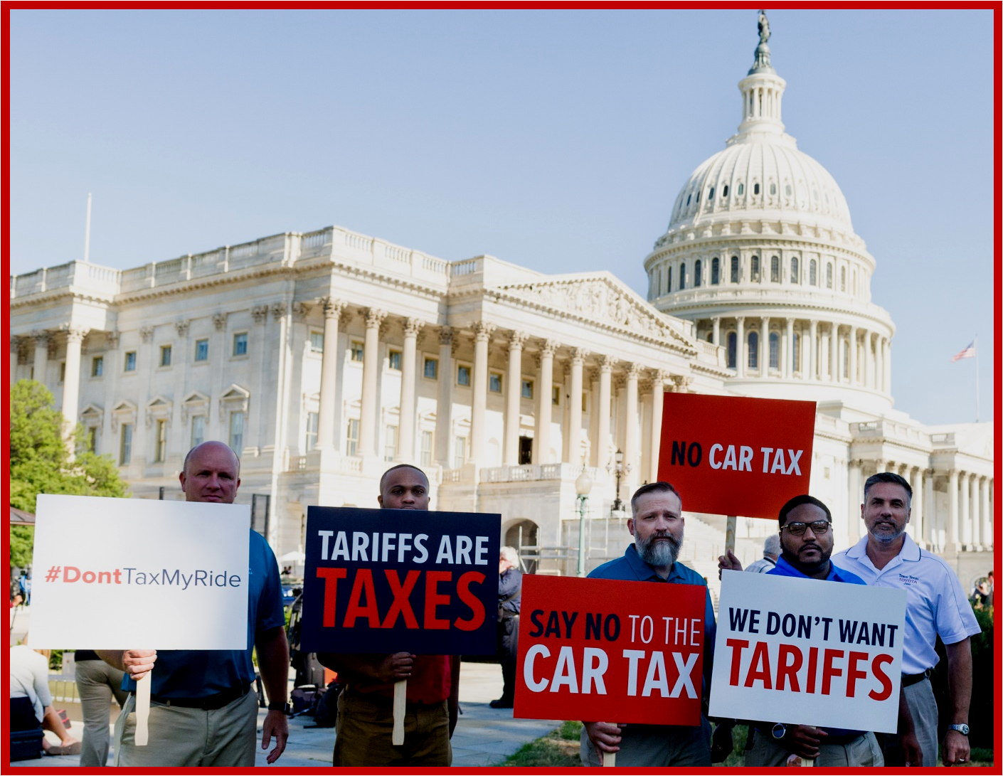 AutoInformed.com on Commerce Dept. Hearings July 2018 with Autoworkers Protesting Job Destroying Trump Tariffs