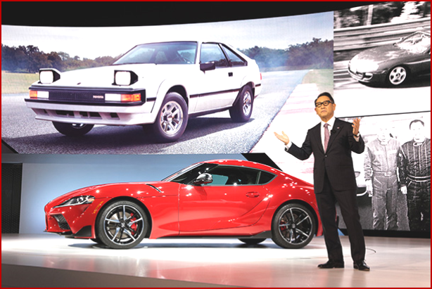 AutoInformed.com on Akio Toyoda. President Toyota Motor Corporation. at 2019 North American International Auto Show.