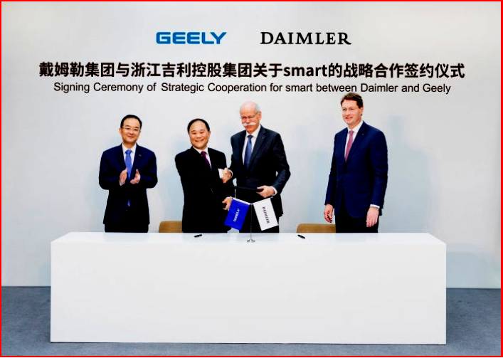AutoInformed.com on Signing ceremony of joint venture for smart between Daimler and Geely.