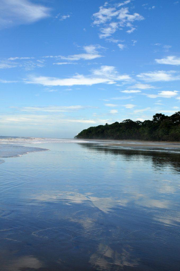 costa rica beach reflection uvita