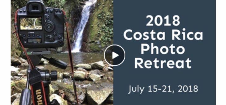 Costa Rica Photo Retreat Video 2018