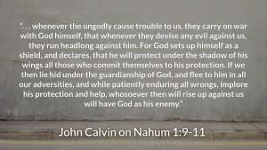 Calvin on Nahum 1, 9-11