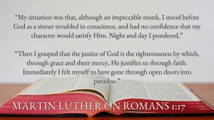 Luther on Rom 1,17
