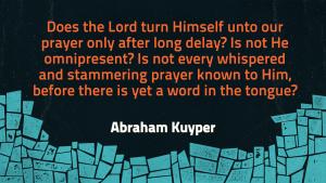 Kuyper on Prayer