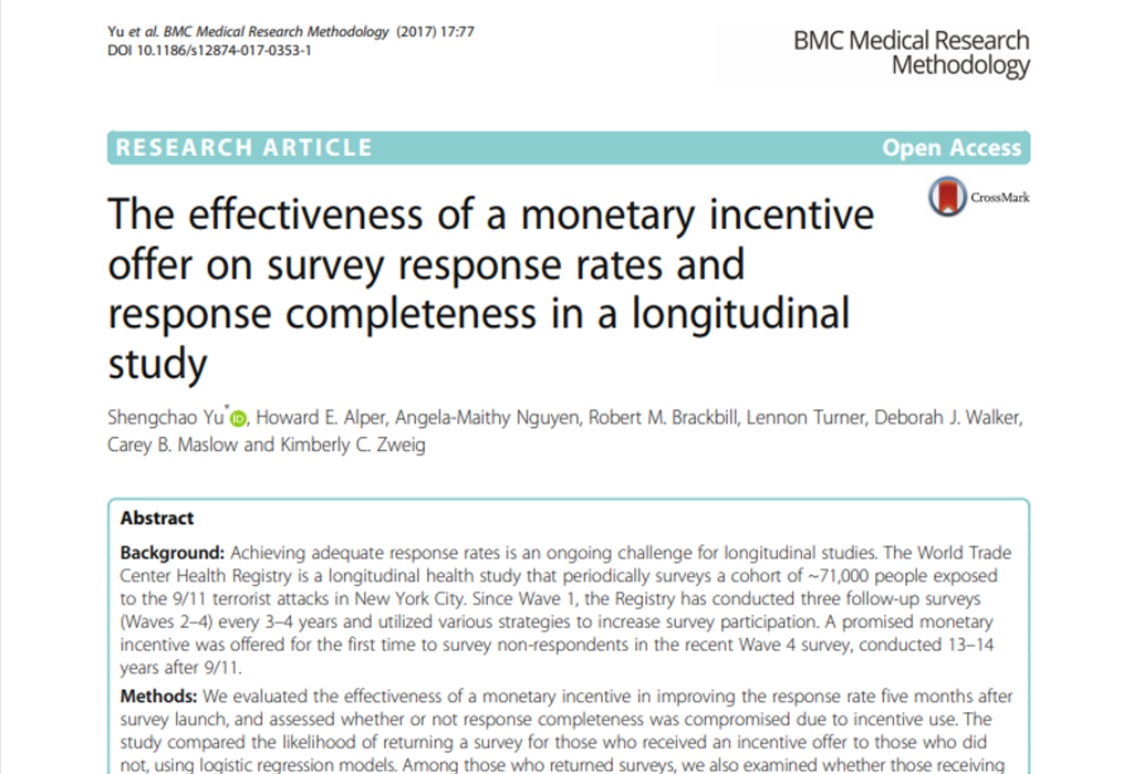 The Effectiveness of Monetary Incentive LIB