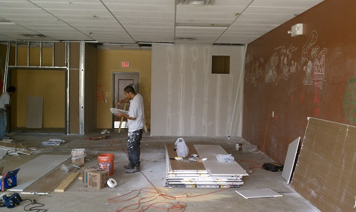 Construction on our Tenant Build Out for an Aerobics Studio