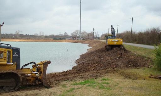 Retention Pond Construction