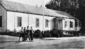 Postcard image of Ocean House/Paul Revere School, circa 1920. - Courtesy of John Freeman