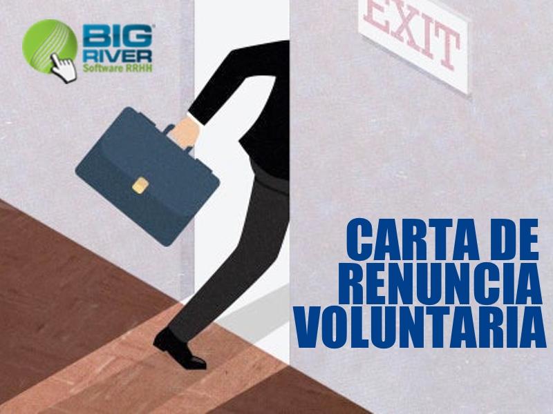 Carta de Renuncia Voluntaria