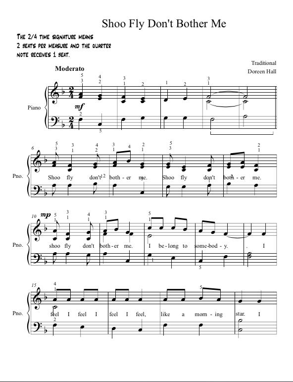 Paloma Piano - Shoo Fly - Page 1