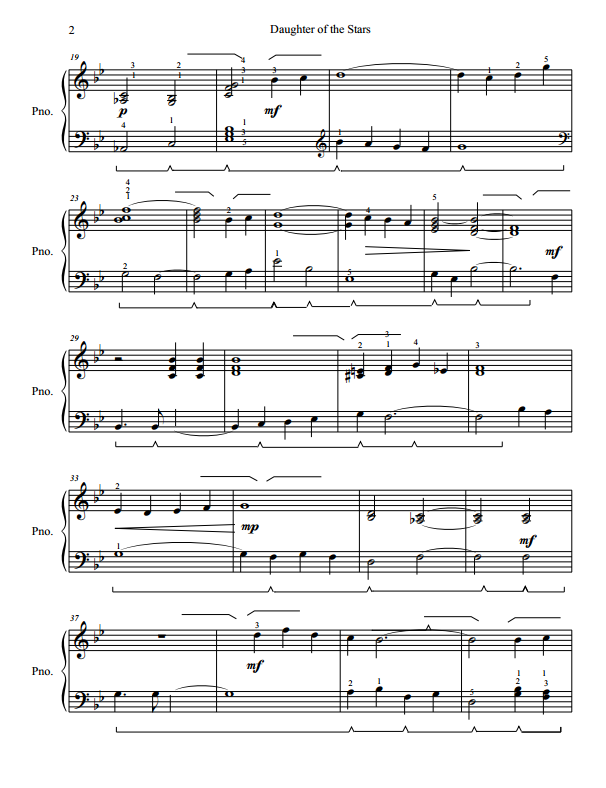 Paloma Piano - Shenandoah - Daughter of the Stars - Page 2