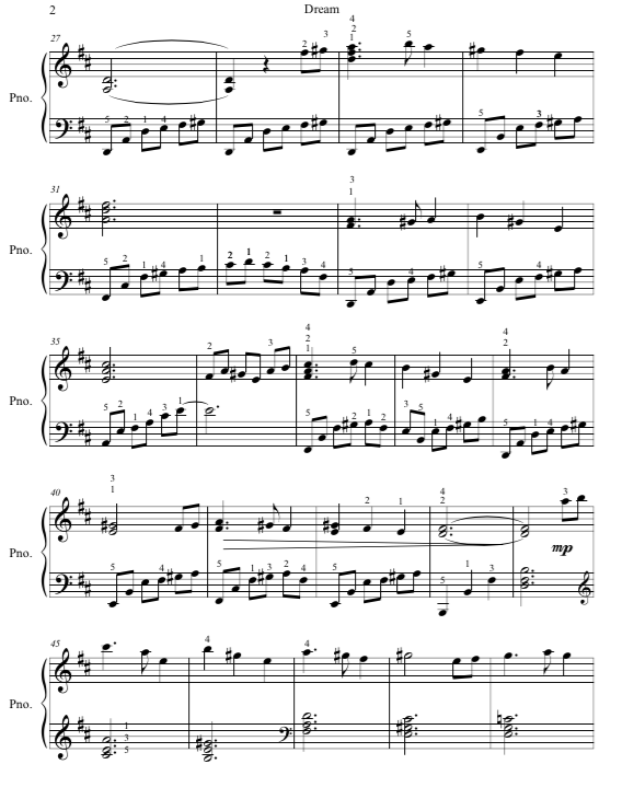 Paloma Piano - Dream - Page 2