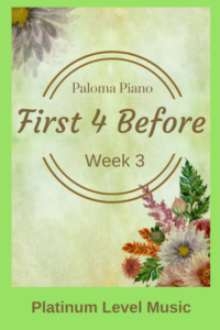 First 4 Before - Week 3 - Cover