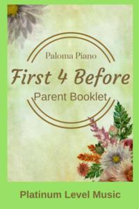 First 4 Before - Parent Booklet - Cover