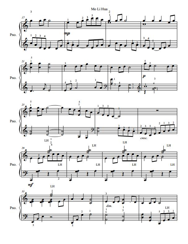 Paloma Piano - Mo Li Hua - Page 2
