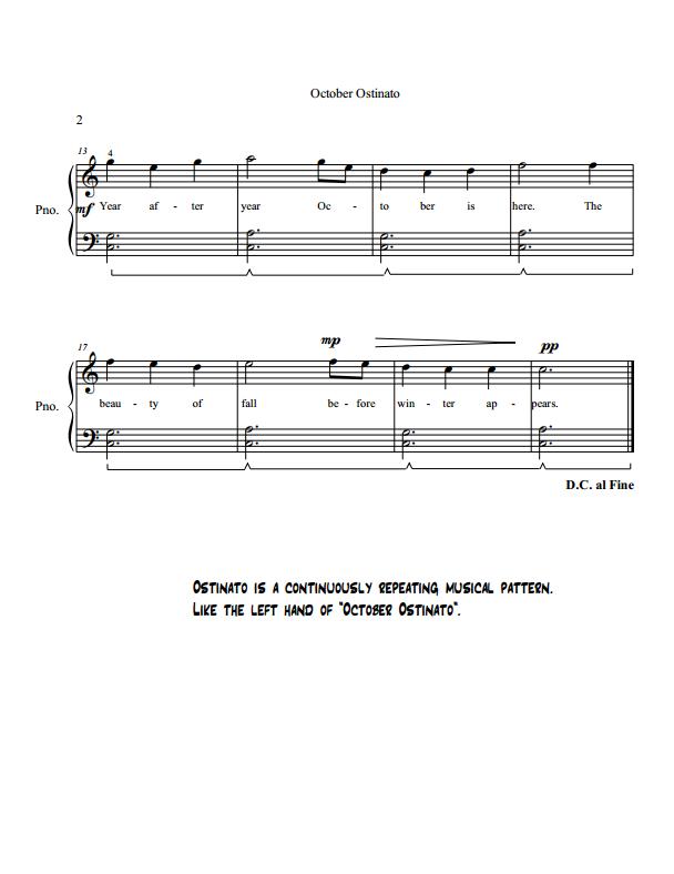 Paloma Piano - October Ostinato - Page 2