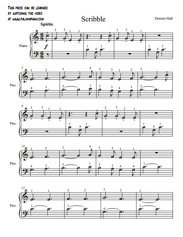 Paloma Piano - Scribble - Page 1