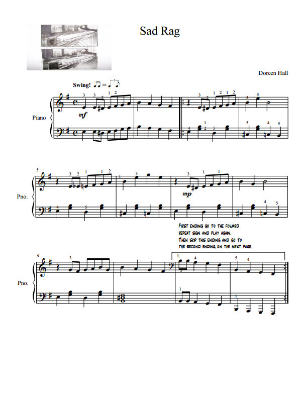 Paloma Piano - The Sad Rag - Page 1