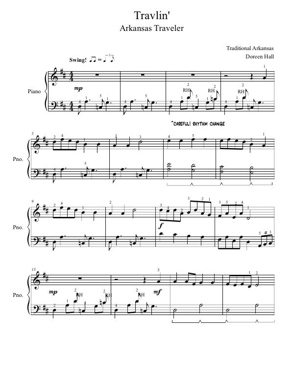 Paloma Piano - Travelin' - Page 1