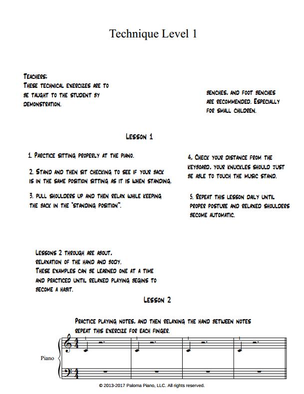 Paloma Piano Technique Book 1 - Page 1