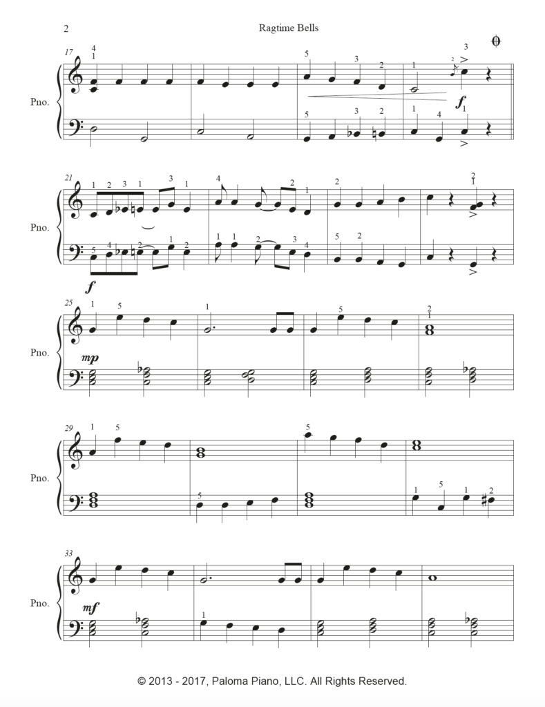 Paloma Piano - Ragtime Bells - Page 2