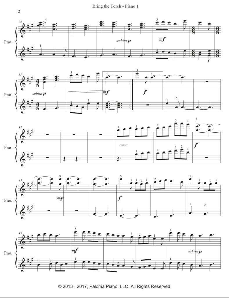 Paloma Piano - Bring The Torch - Page 2