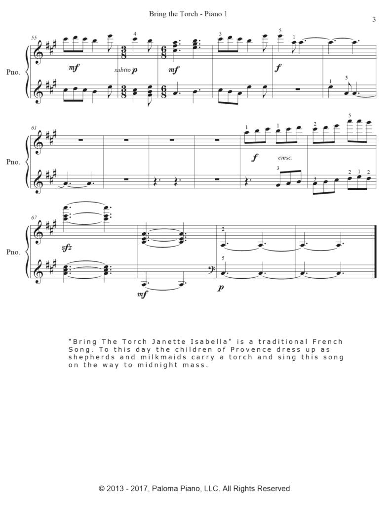 Paloma Piano - Bring The Torch - Page 3
