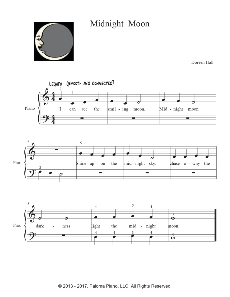 Paloma Piano - Midnight Moon - Page 1