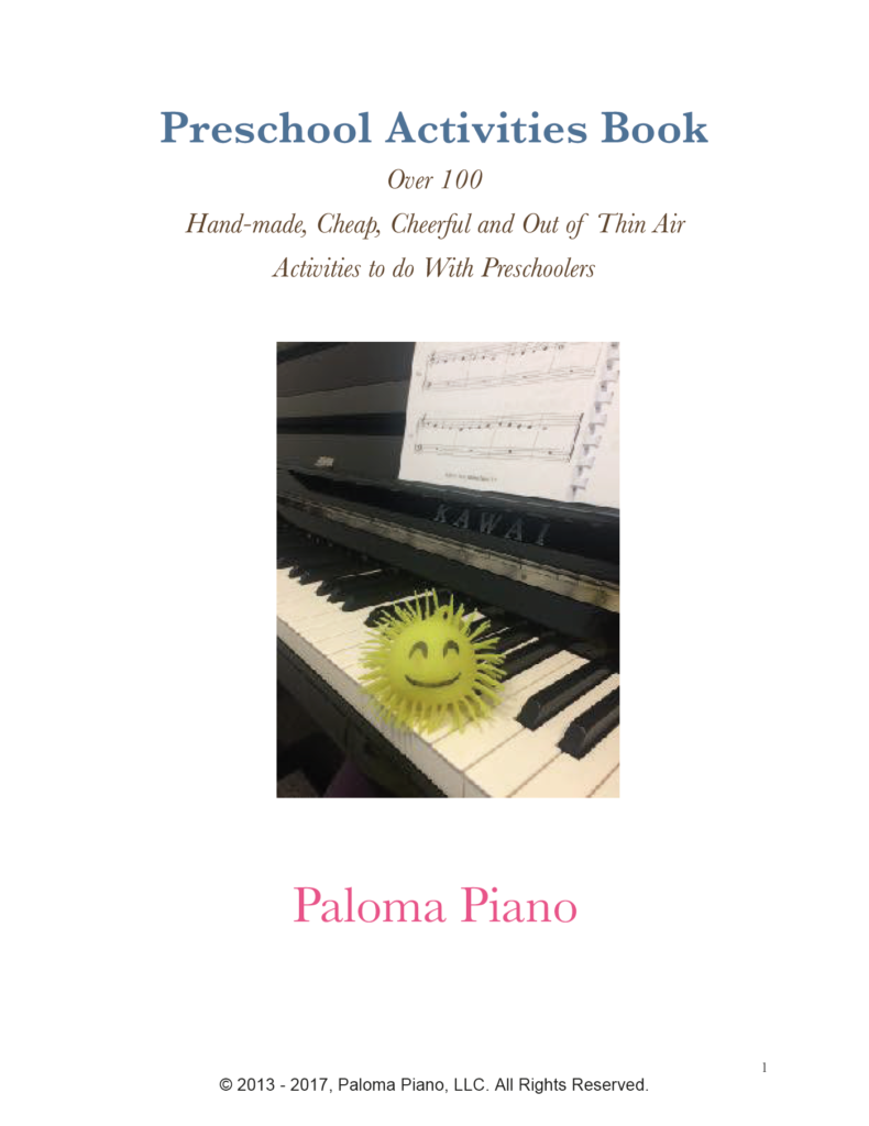 Paloma Piano - Preschool Activities Book - Cover