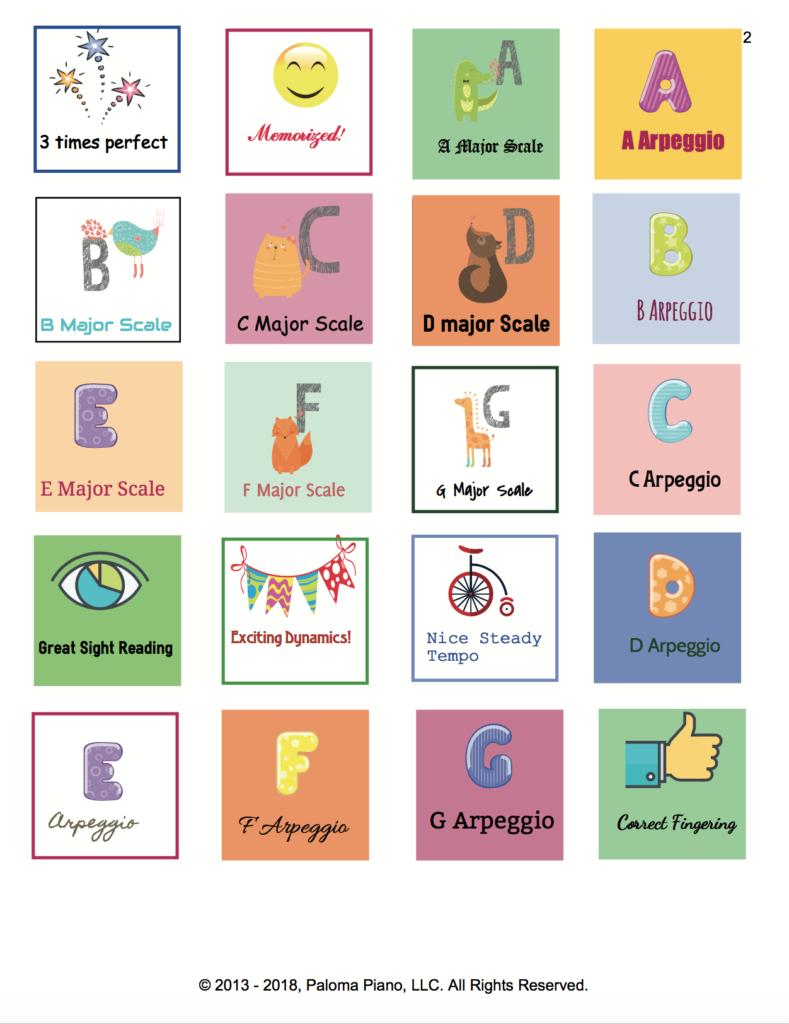 Paloma Piano  - Inspiration Stickers - Page 2
